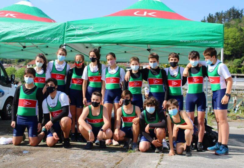 Campeonato de Euskadi de banco móvil de Infantiles y Veteranos  en Legutiano